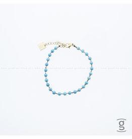 Zag Bijoux Zag Bijoux Bracelet Turquoise Goudkleurig