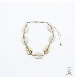 Zag Bijoux Zag Bijoux Beach Bracelet Shell Goudkleurig
