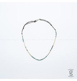 Zag Bijoux Zag Bijoux Necklace Summer Chocker Light Green