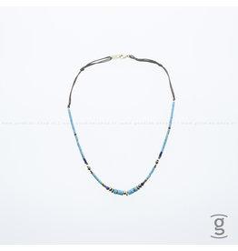 Zag Bijoux Zag Bijoux Necklace Summer Chocker Turquoise