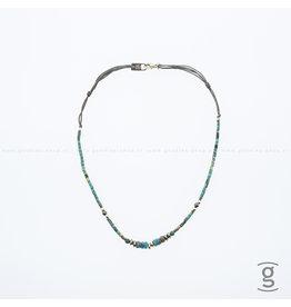 Zag Bijoux Zag Bijoux Necklace Summer Chocker Green