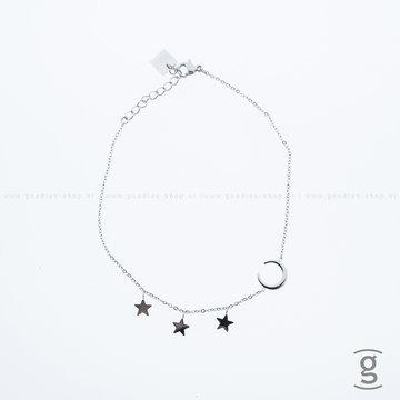 Zag Bijoux Zag Bijoux Anklet Moon & Stars Zilverkleurig