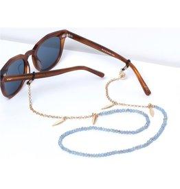 Sunny Cords Bead It ★ SUNNY CORDS Veertjes Blauw Goudkleurig