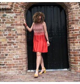 Saint Tropez Saint Tropez T6829 knit Dress On Knee Tomato