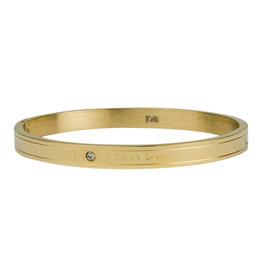 Kalli Kalli Bracelet 2124 6mm Carpe Diem Goudkleurig M-58mm
