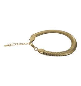 Kalli Kalli Bracelet 2556 Plat 8.0 mm Dikte Goudkleurig