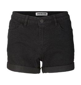 Noisy May Noisy Man NMBE Lucy Denim Fold Shorts Black