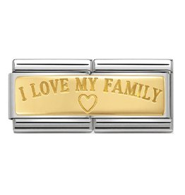 Nomination Nomination Double Link 030710/03 I Love My Family 18k Goud