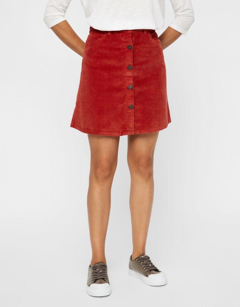 Noisy May Noisy May NM Sunny Short Corduroy Skirt Tandori Spice
