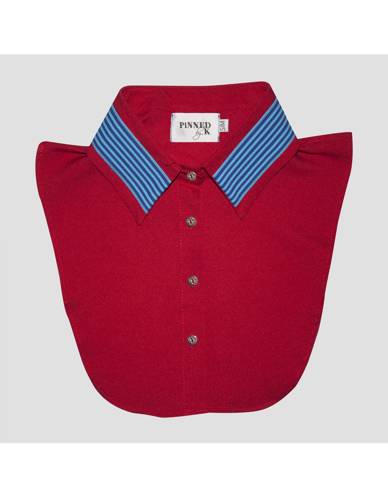 Pinned by K Pinned By K Collar Red Blue Stripe
