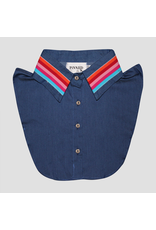 Pinned by K Pinned By K Collar Blue Stripes