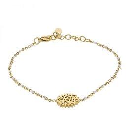 Kalli Kalli Bracelet 2586 Flower White Beads