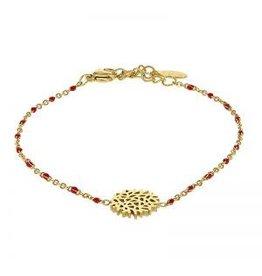 Kalli Kalli Bracelet 2586 Flower Red Beads