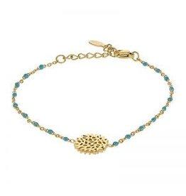 Kalli Kalli Bracelet 2586 Flower Turquoise Beads