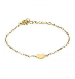 Kalli Kalli Bracelet 2587 Heart White Beads