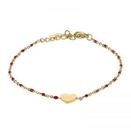 Kalli Kalli Bracelet 2587 Heart Red Beads
