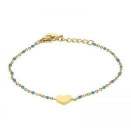 Kalli Kalli Bracelet 2587 Heart Turquoise Beads