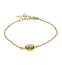 Kalli Kalli Bracelet 2589 Brown Stone Pink Beads
