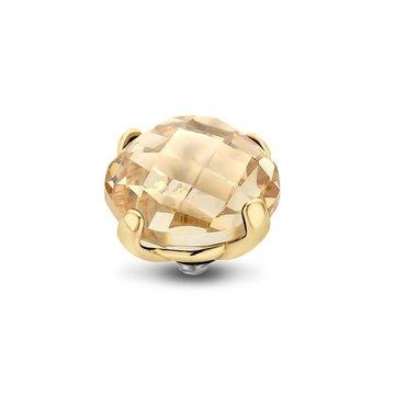 Melano Melano Twisted Bold Steentje Crystal Golden Shadow Goudkleurig