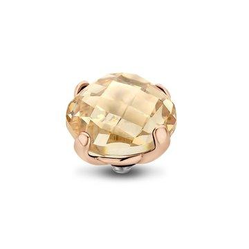 Melano Melano Twisted Bold Steentje Crystal Golden Shadow Rosé