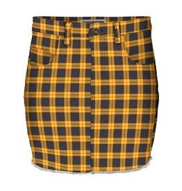 Noisy May Noisy may NMMika Check Skirt Golden Rod