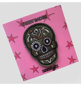 Pinned by K Pinned by K Broche Skull Green Candy