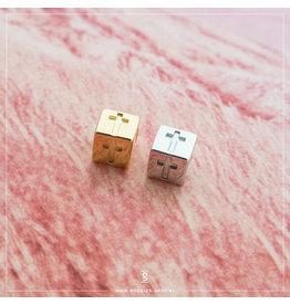 Imotionals Imotionals Silk Cords met Kruis-Blokje Zilver