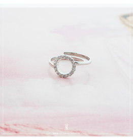 Imotionals Imotionals One Size Ring Circle of Life Crystal Zilver