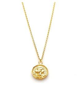 Karma Karma Necklace Elisabeth Coin 50-57cm Goudkleurig