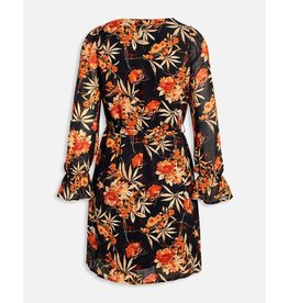 Sisters Point Sisters Point Noki-Dress Black/Rust Flower
