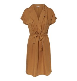 Noisy May Noisy May NM Vera Endi Tencel Shirt Dress Brown Sugar