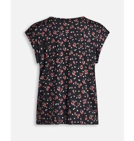 Sisters Point SisterSpoin T-shirt Bloemenprint Zwart/Rood