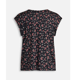 Sisters Point SisterSpoint Low T-shirt Black / Red Flower