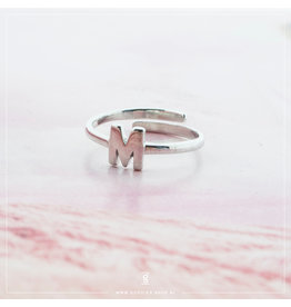 Imotionals Imotionals Initiaal Ring M Zilver