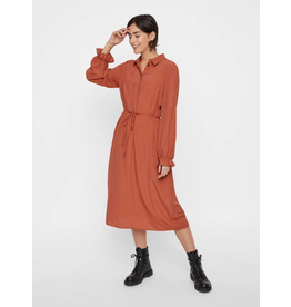 Pieces Pieces PC Himla Midi Dress Picante