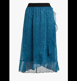 Saint Tropez U8005 Woven Skirt Calf Length Dragonfly