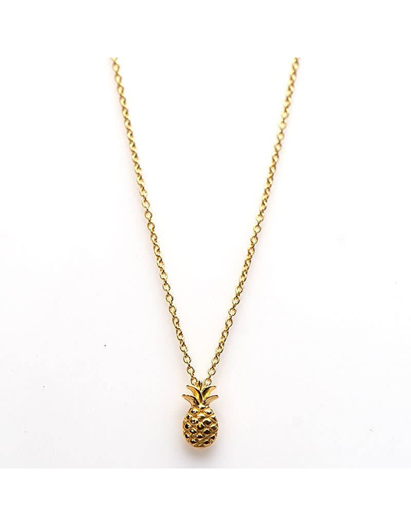 Karma Karma Necklace Pineapple Goudkleurig 50-57CM