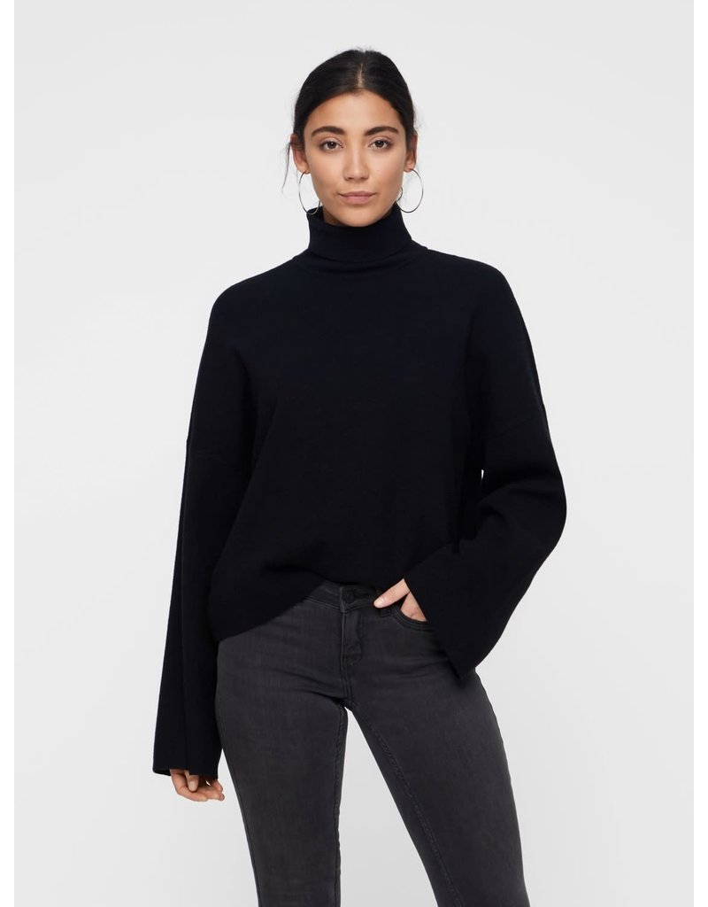 Noisy May Noisy May NM Ship Roll neck Knit Black