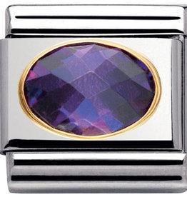 Nomination Nomination Link 030601/001 Vilolet Faceted Stone