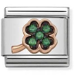 Nomination Nomination Link 430311/02 Four leaf Clover With Stones