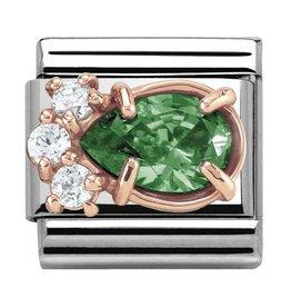 Nomination Nomination Link 430309/03 Rose Gold Green Drop