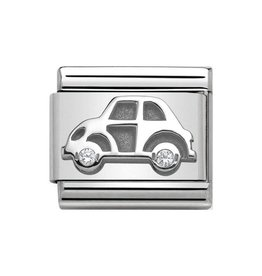 Nomination Nomination Link 330311/05 Car in Silver and Stone