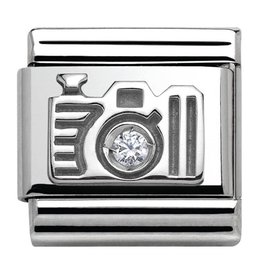 Nomination Nomination Link 330311/06 Camera in Silver and Stone