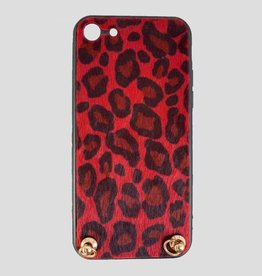 Pinned by K Pinned by K Iphone Case Keep Your Hands Free Leopard Red