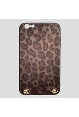 Pinned by K Pinned by K Iphone Case Keep Your Hands Free Leopard Brown