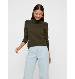 Pieces Pieces PC Kalissa LS High Neck Knit Forest Night