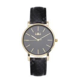 iKKi Horloges Ikki JM19 Black Python/Gold/Black