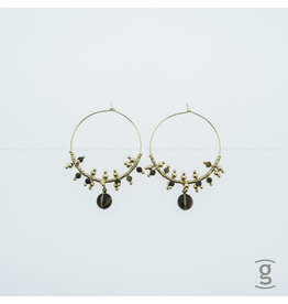 Zag Bijoux Zag Bijoux Creolen Gold-Brown Beads Goudkleurig