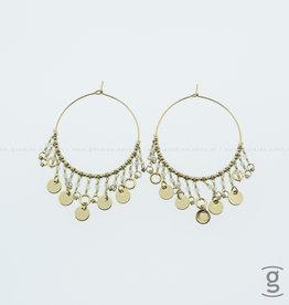 Zag Bijoux Zag Bijoux Earring Golden Coins Goudkleurig