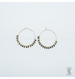 Zag Bijoux Zag Bijoux Creolen Hanging Brown Beads Goudkleurig